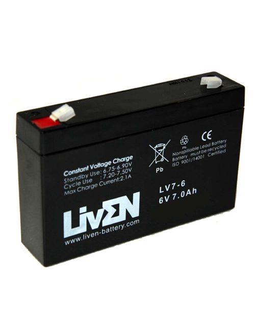 Batería 6V 7Ah Liven serie LV