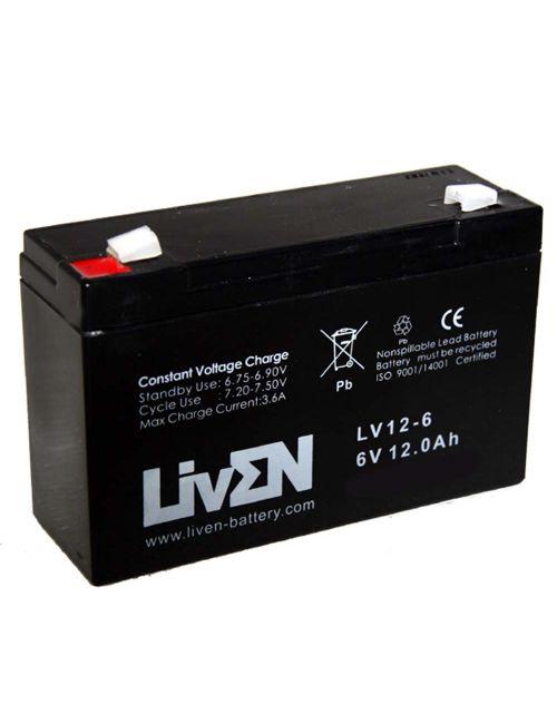 Batería 6V 12Ah Liven LV12-6