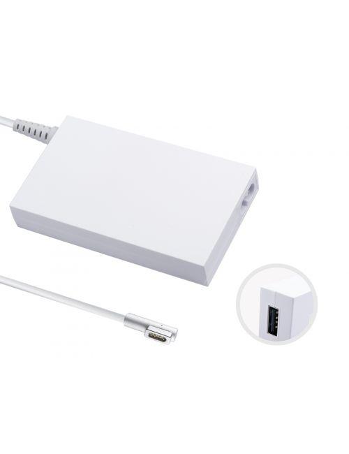 """Cargador para Apple Macbook Pro 15"""" y 17"""" 18,5V 4,6Ah 85W Magsafe con puerto USB de 2Ah para cargar tus dispositivos adicionales"""