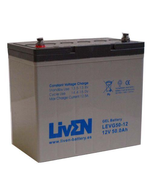Batería de gel 12V 50Ah Liven serie LEVG