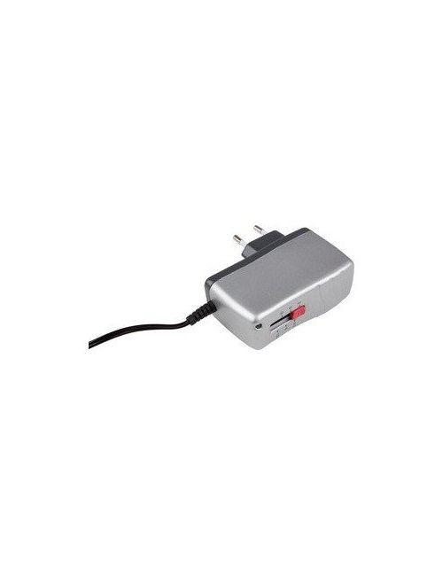 Cargador alimentador universal regulable 3V a 12Vcc 1Ah