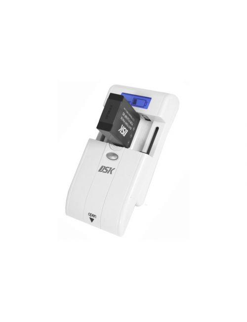 Cargador universal para baterías de cámaras fotograficas, videocámaras de Li-Ion y pilas recargables AAA/AA.