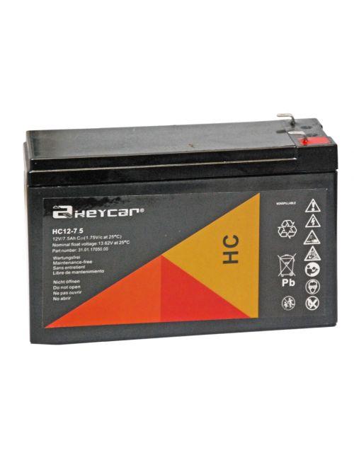Batería para balanza digital 12V 7,5Ah Heycar serie HC