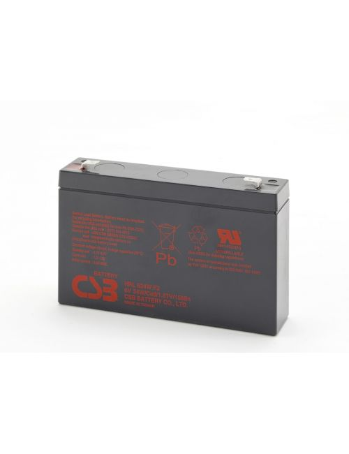 Batería para coches, motos, quads y triciclos eléctricos para niños 6V 8,5Ah 34W/celda CSB serie HRL