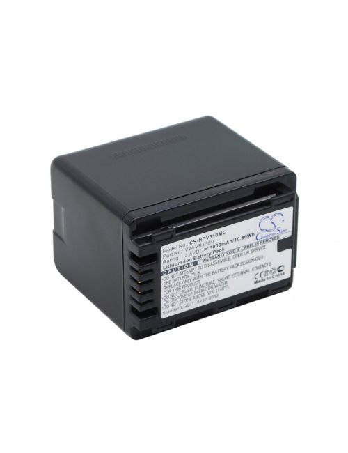 Batería Panasonic VW-VBT380 compatible 3,6V 3000mAh LI-ION