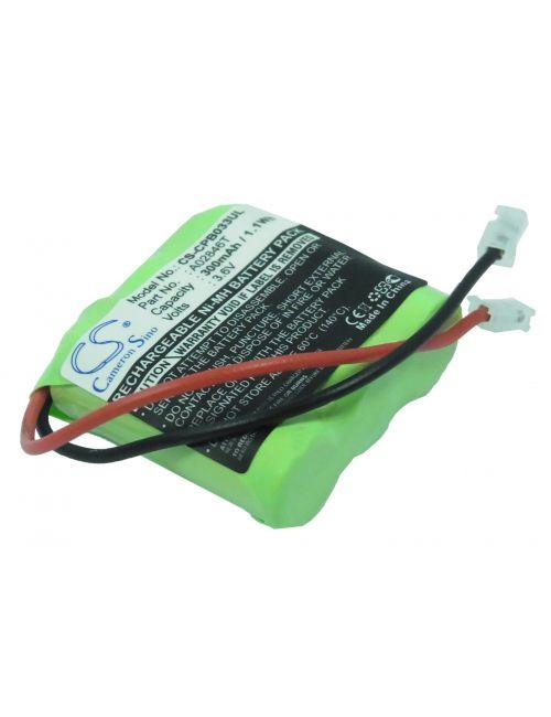 Batería para teléfono inalámbrico 3,6V 300mAh Ni-Mh con conector universal