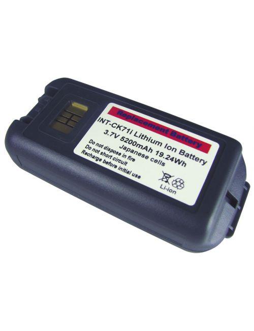 Bateria para Intermec CK70 y CK71. 1001AB01, 1001AB02, 318-046-001, AB18 compatible 3,7V 5200mAh 19,24Wh Li-Ion