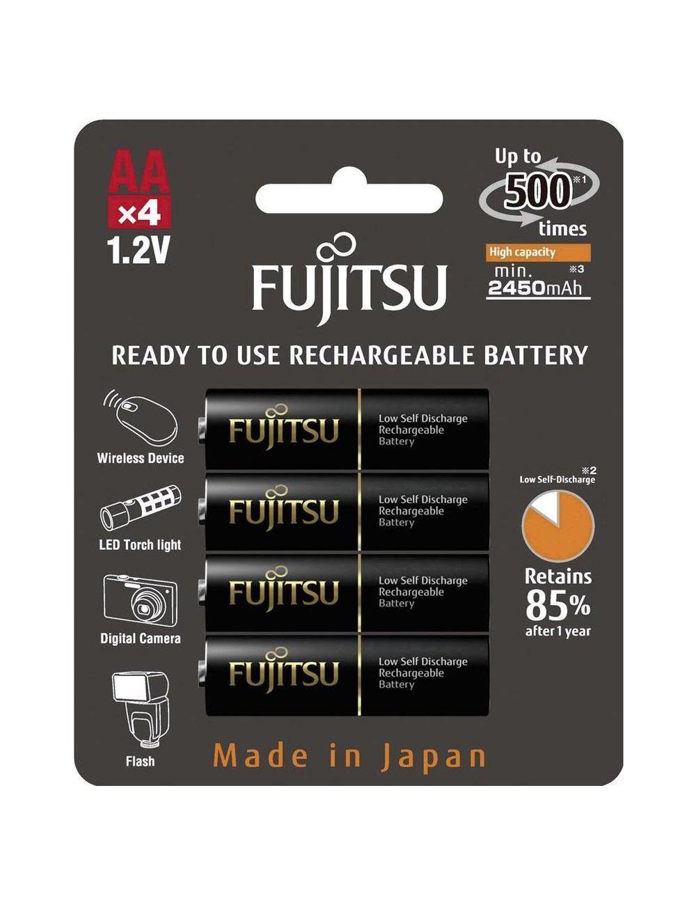 Pilas AA recargables 2550mAh Fujitsu FDK (Blister 4 unidades)