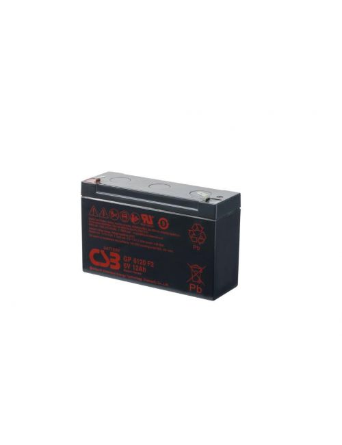 Batería de plomo 6V 12Ah CSB serie GP