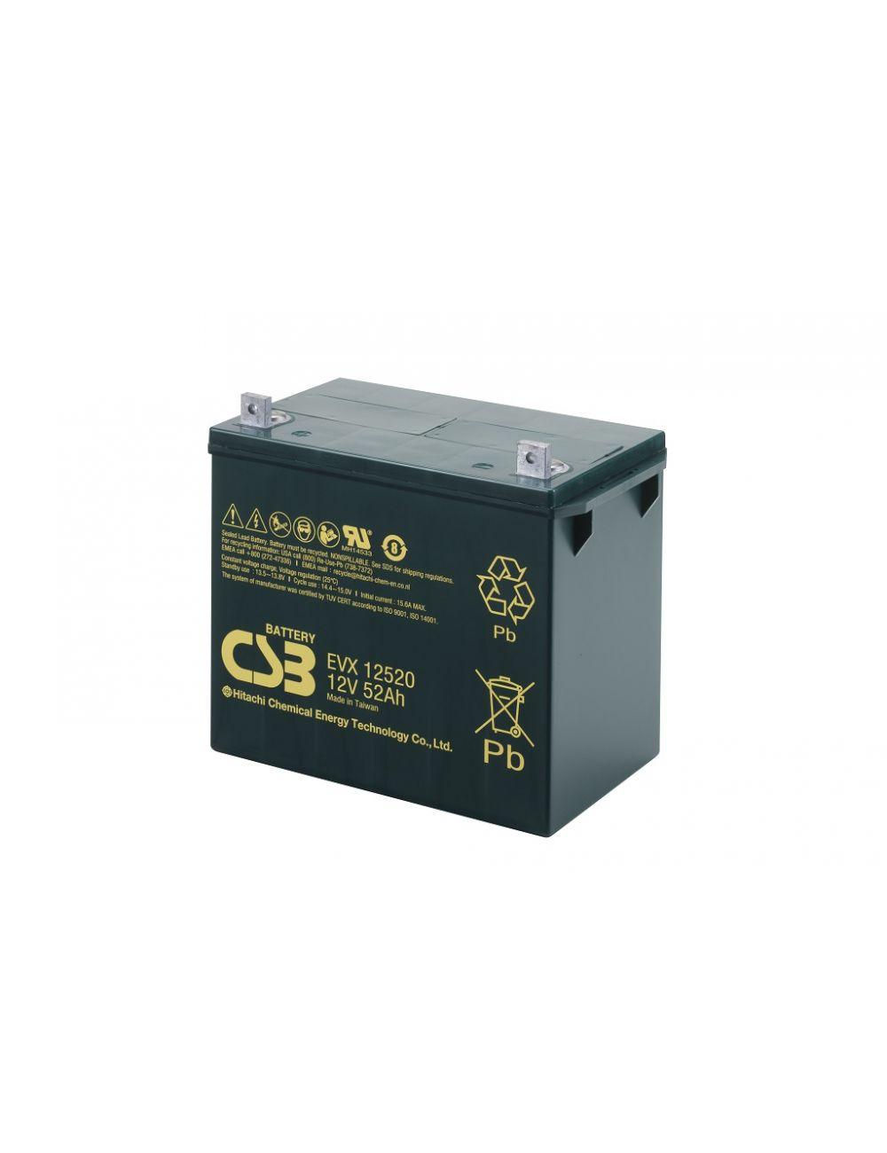 Batería para silla de ruedas 12V 52Ah CSB serie EVX