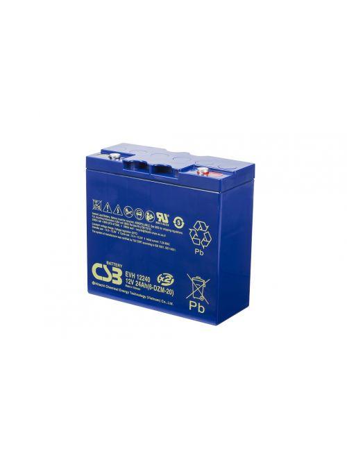 Batería 12V 24Ah CSB EVH12240