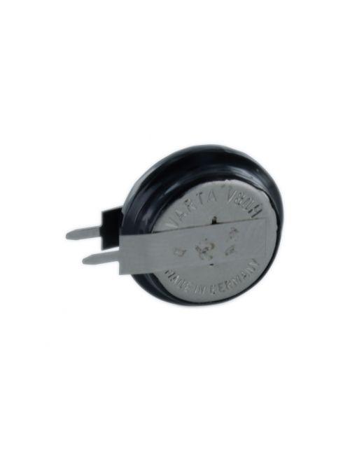 Batería de botón recargable 1,2V 80mAh Varta V80H con pines 1+1 para soldar en circuito impreso