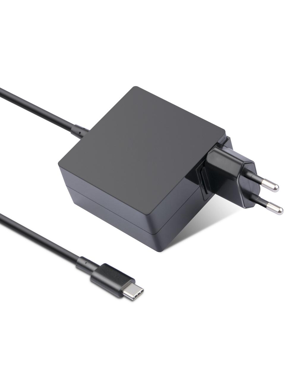 Cargador USB tipo C de 65W para smartphones, tablets, portátiles, ultrabooks y cualquier otro dispositivo con puerto USB-C.