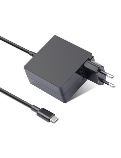 Cargador USB tipo C de 65W para smartphones, tablets, portátiles, híbridos, 2 en 1 y ultrabooks.