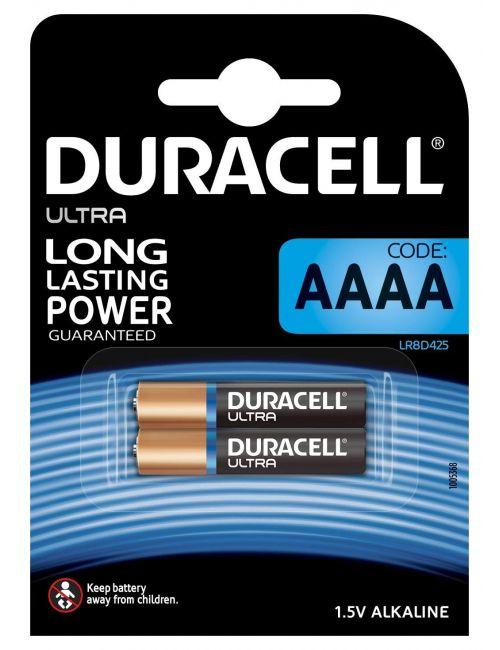 Pilas AAAA 1,5V alcalinas DURACELL ULTRA (blister 2 unidades)