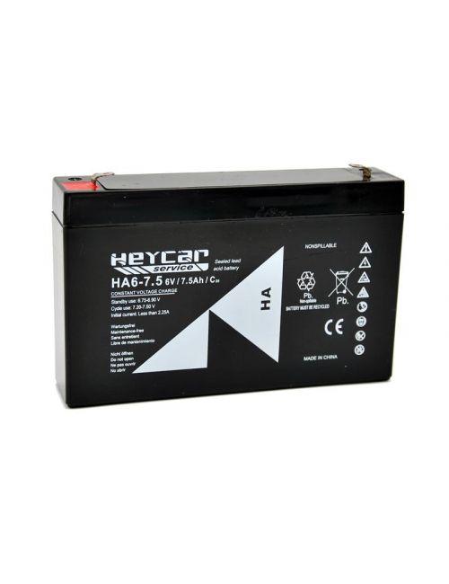 Batería 6V 7,5Ah HEYCAR Service