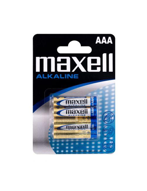 Pila AAA LR03 alcalina 1,5V Maxell (blister 4 unidades)