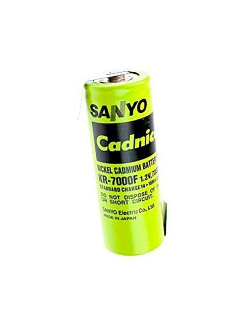 Batería para linternas Legrand LR-206, 61860 de 1,2V 7000mAh Sanyo Cadnica F Niquel Cadmio con terminales planos para soldar