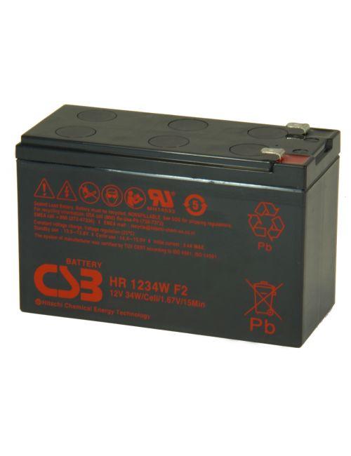 Batería 12V 9Ah 34W/celda CSB serie HR