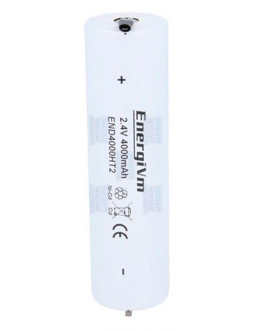 Batería para iluminación de emergencia de 2,4V 4Ah Ni-Cd con terminales faston 2,8mm
