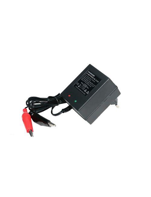 Cargador para baterías de plomo de 6V automático con intensidad de carga de 600mA, detección de carga y carga de mantenimiento