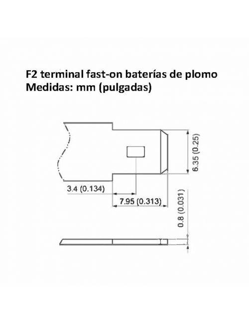 Terminal fast-on F2 baterías de plomo