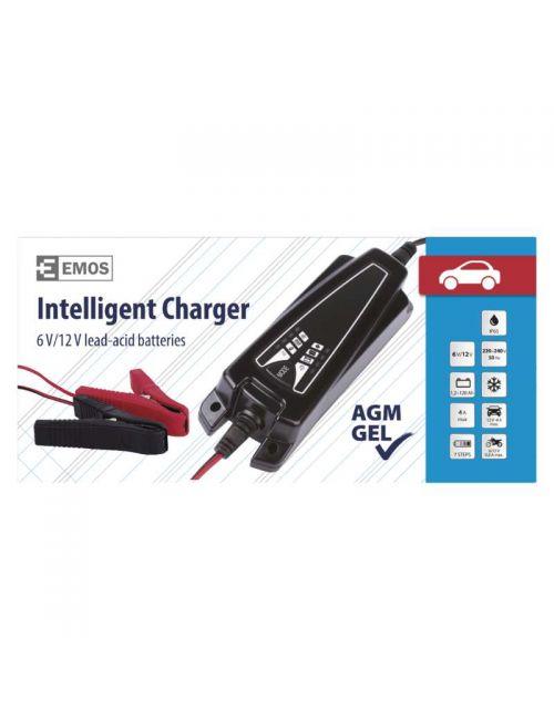 Cargador para baterías de plomo ácido AGM, Gel y LiFePO4 de 6V, 12V y 12,8V a 4A EMOS