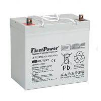Batería de gel para silla de ruedas o scooter eléctrico de 12V 55Ah First Power serie LFP