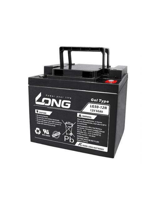 Pack 2 baterías de gel para silla de ruedas de 12V 50Ah LONG serie LG