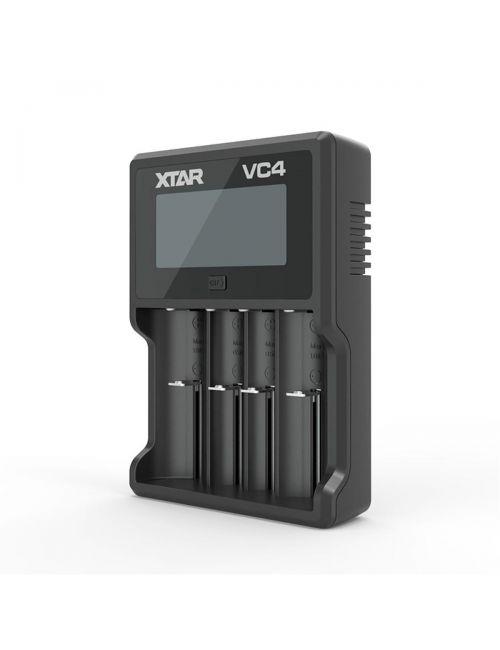 XTAR VC4 cargador con LCD para 4 baterías Litio Ion y Ni-Mh