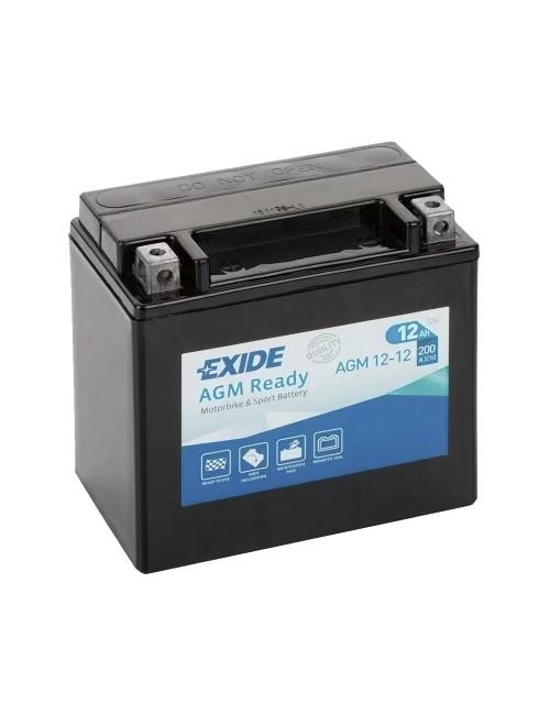 Bateria moto 12V 12Ah 200CCA EXIDE serie AGM Ready