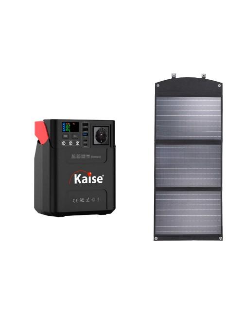 Pack estación de energía portátil 222Wh 60.000mAh y panel solar/cargador plegable de 90W